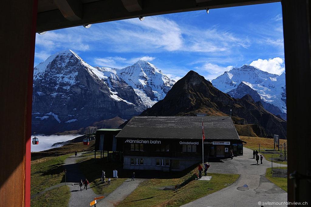 ..und hier die Station, bei welcher man von Grindelwald her ankommt.