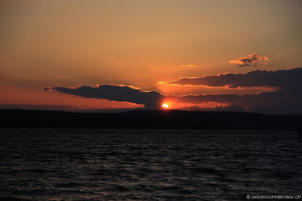 Sonnenuntergang in Unteruhldingen