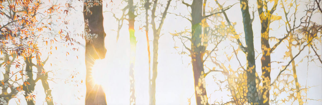 Gegenlicht | 2014 | 70 x 110 cm | Acryl auf Baumwolle