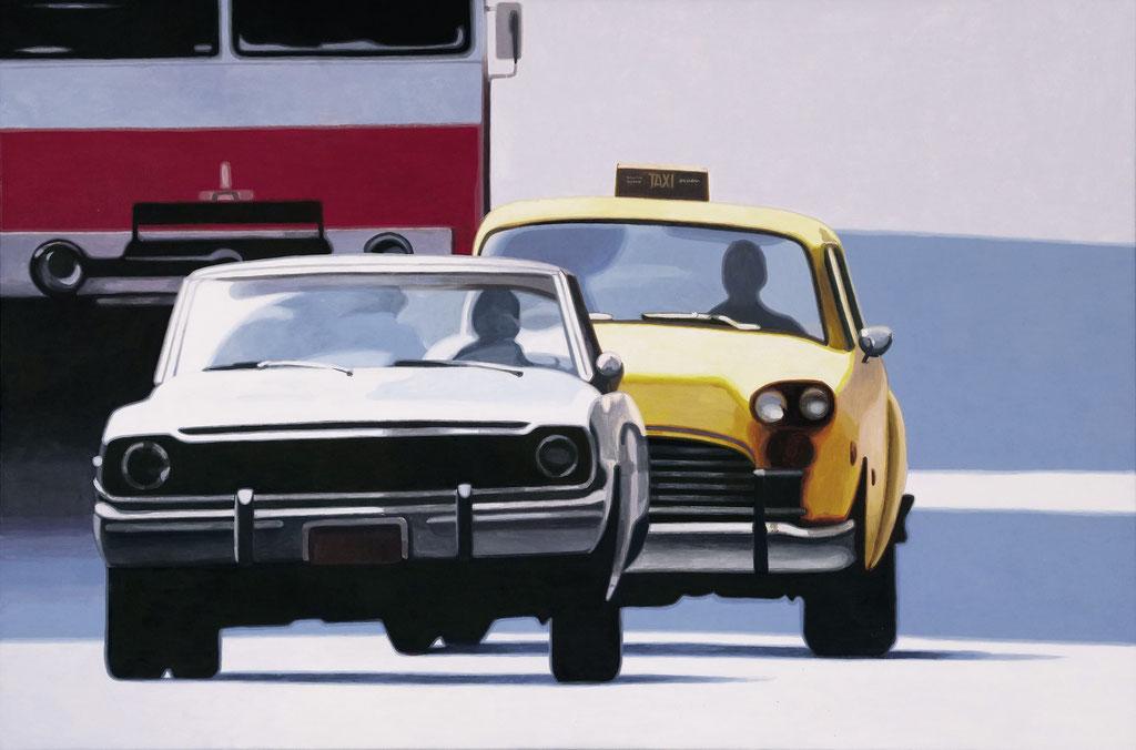 Autos | 2019 | 80 x 120 cm | Acryl auf Leinwand