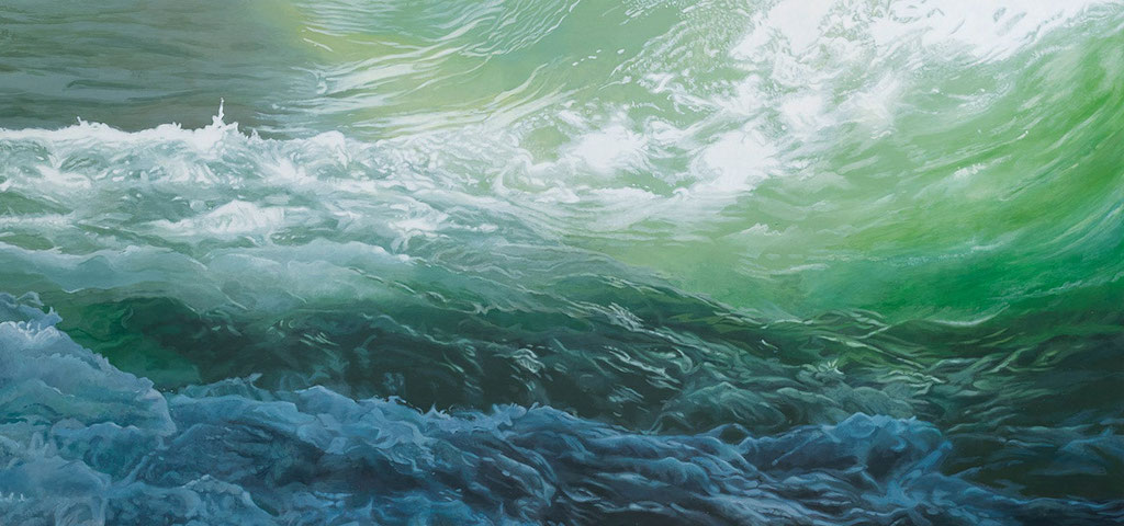 Die Welle | 2018 | 90 x 180 cm | Acryl auf Leinwand (verkauft)