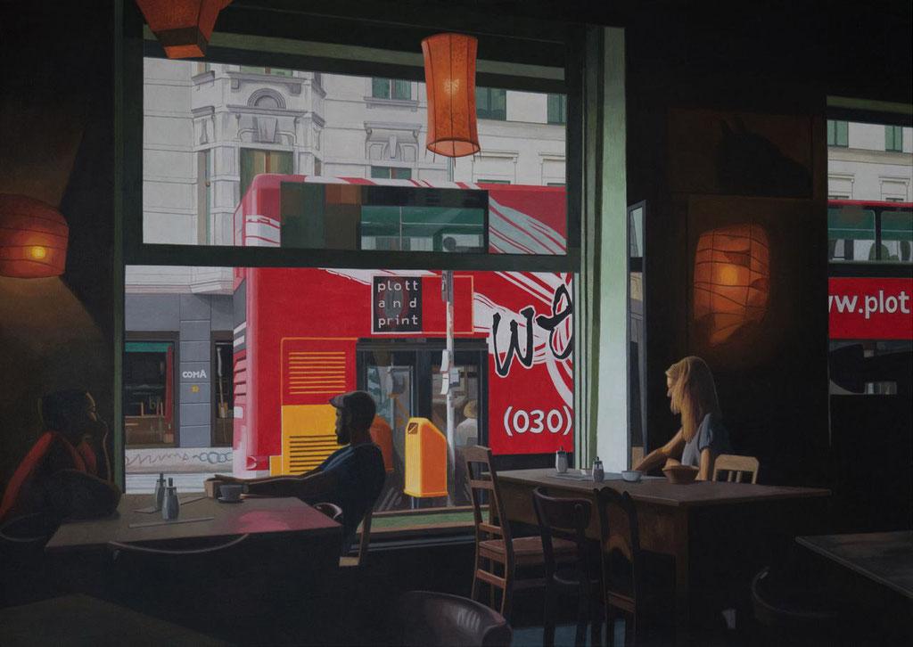 Am Heinrichplatz | 2017 | 110 x 155 cm | Acryl auf Baumwolle (verkauft)