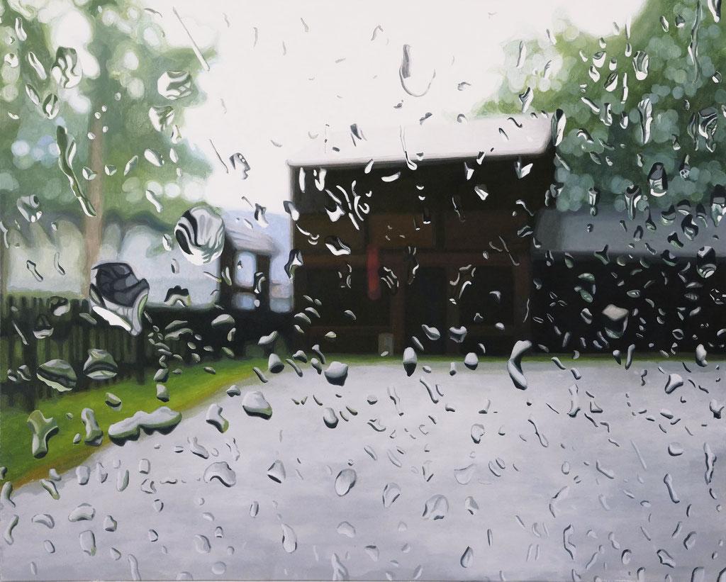 Wassertropfen | 2019 | 80 x 100 cm | Acryl auf Leinwand