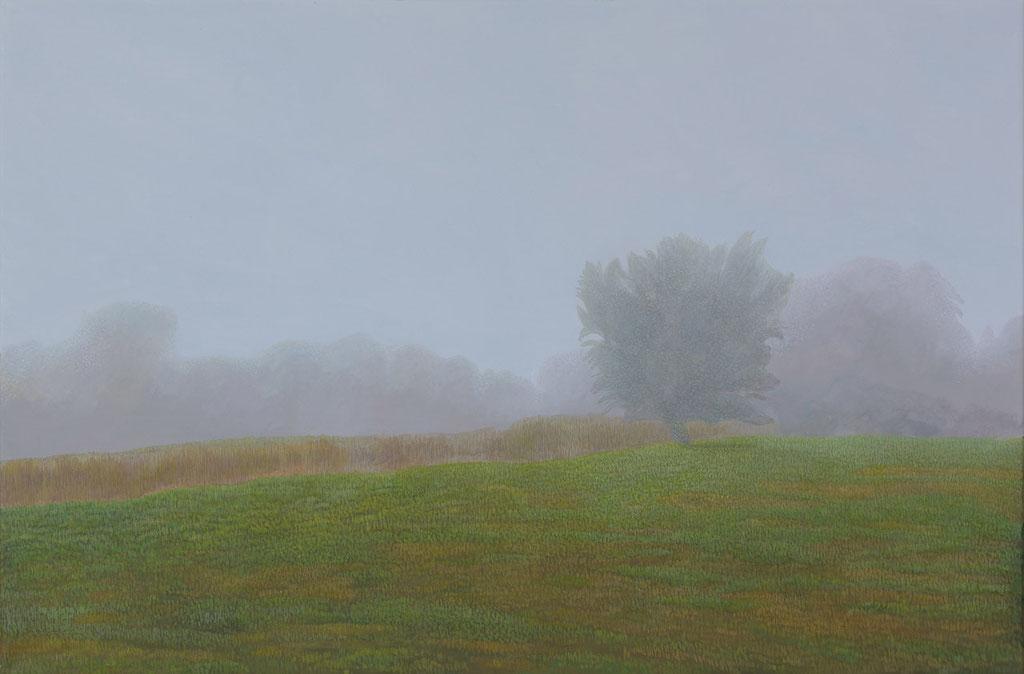 Baum im Nebel | 2018 | 80 x 120 cm | Acryl auf Leinwand