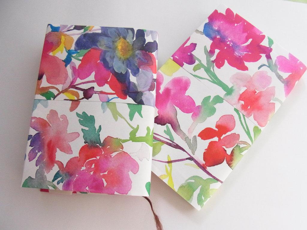 「水彩絵具のいろ☆色 花のブックカバー作り」 府中市美術館(2015