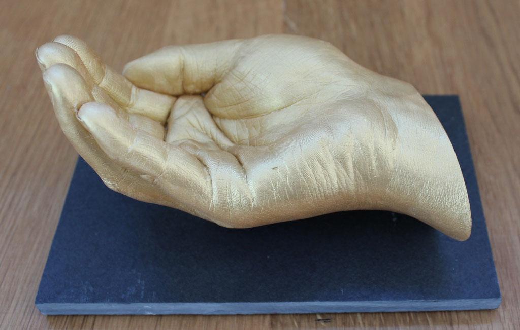 Liebe in Stein Detail Hand