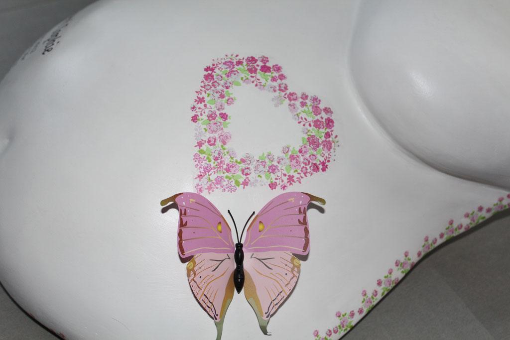 Liebe in Stein Schmetterling