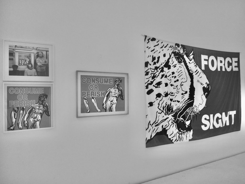 Les Levine, FORCE SIGHT, 1992 exhibition view S Y S T E M S   E S T H E T I C S  © Jack Burnham 1968 © Brigitte March ICA Stuttgart
