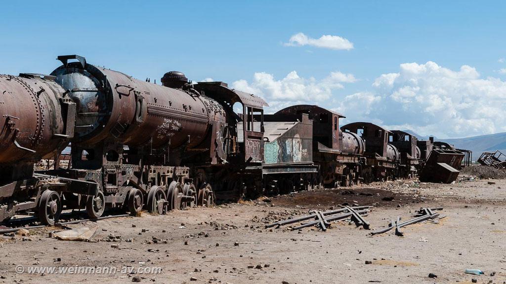 Der Zugfriedhof von Uyuni