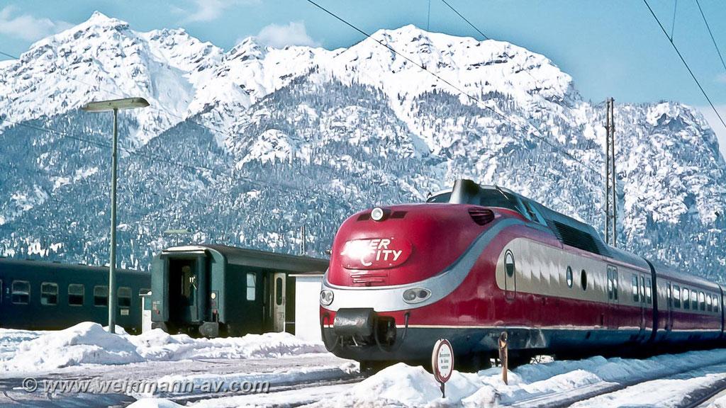BR 601 als InterCity in Garmisch-Partenkirchen (1968)