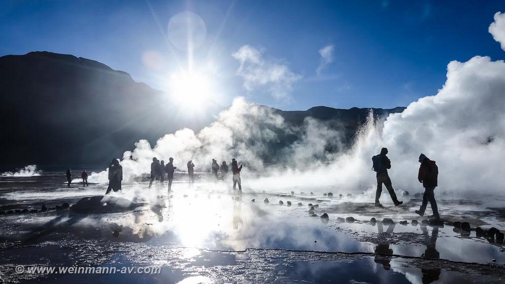 El Tatio, das dritthöchste Geysirfeld der Erde