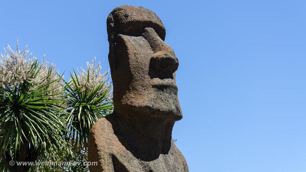 Vila del Mar, Statue von der Osterinsel