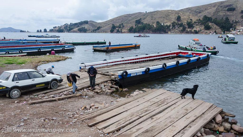 Fährverbindung zum bolivianischen Festland