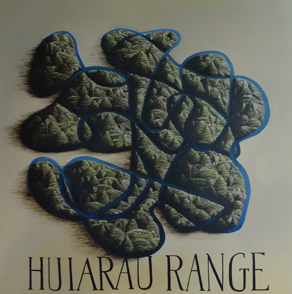 'Huiarau Range'760 x760mm,Oil on canvas. SOLD