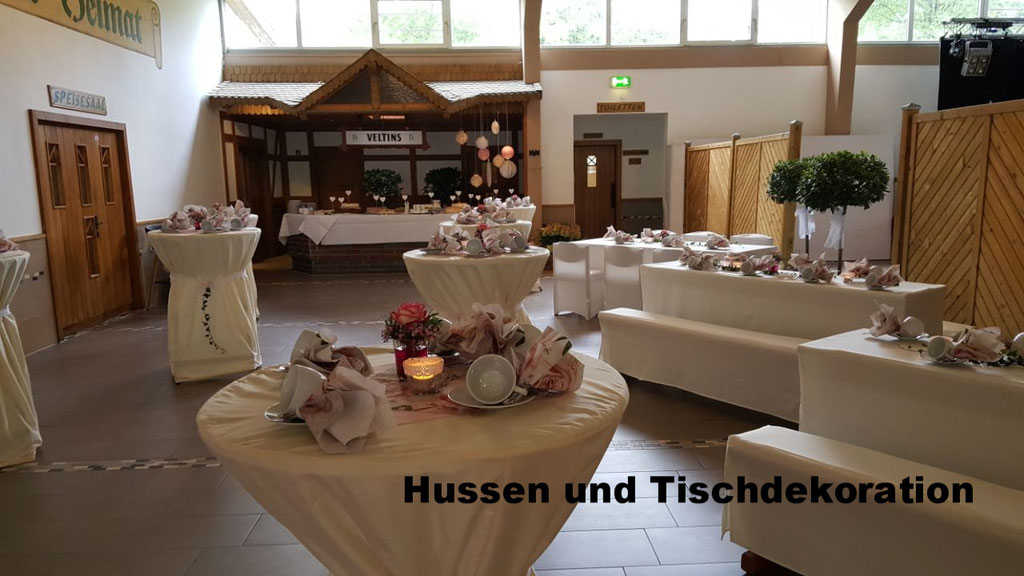 Hussen und Tischdekoraion