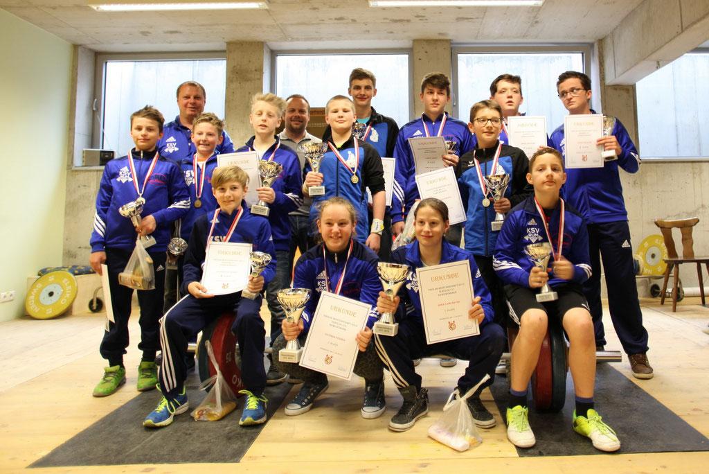 Teilnehmer Tiroler Schüler-u. Jugendmeisterschaft 2015 mit Uran Werner und Scharf Christian