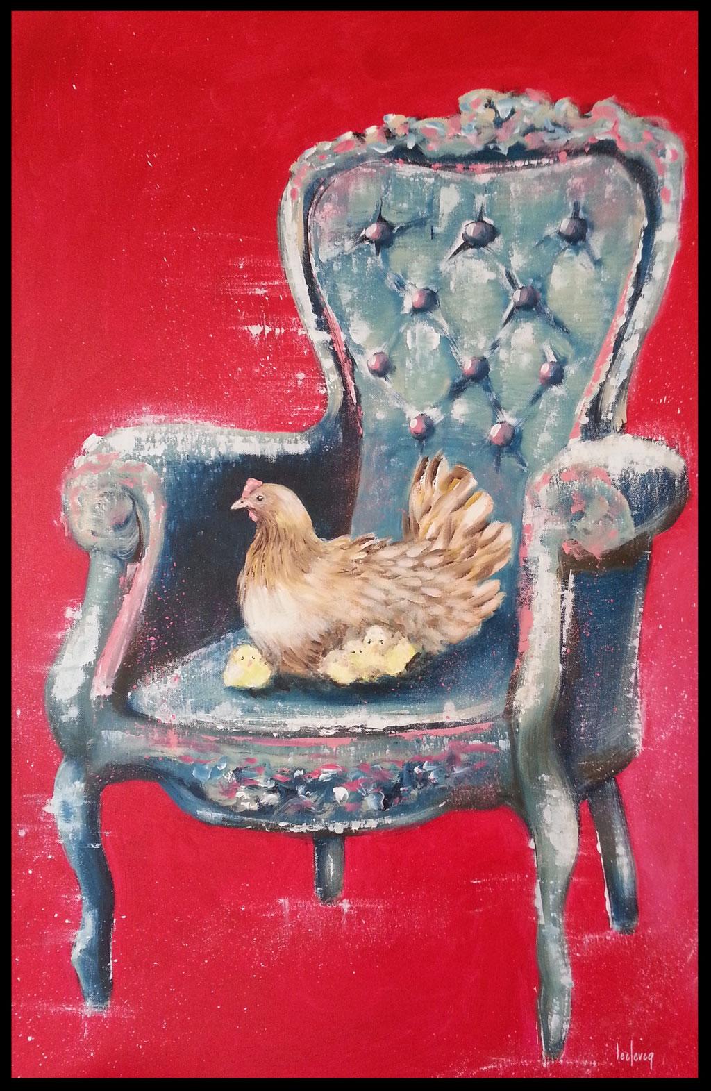 115x75 Maman poulette
