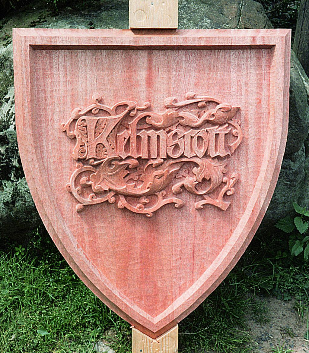 kelmscott press mark. Kelmscottpress Druckermarke Holz geschnitzt.