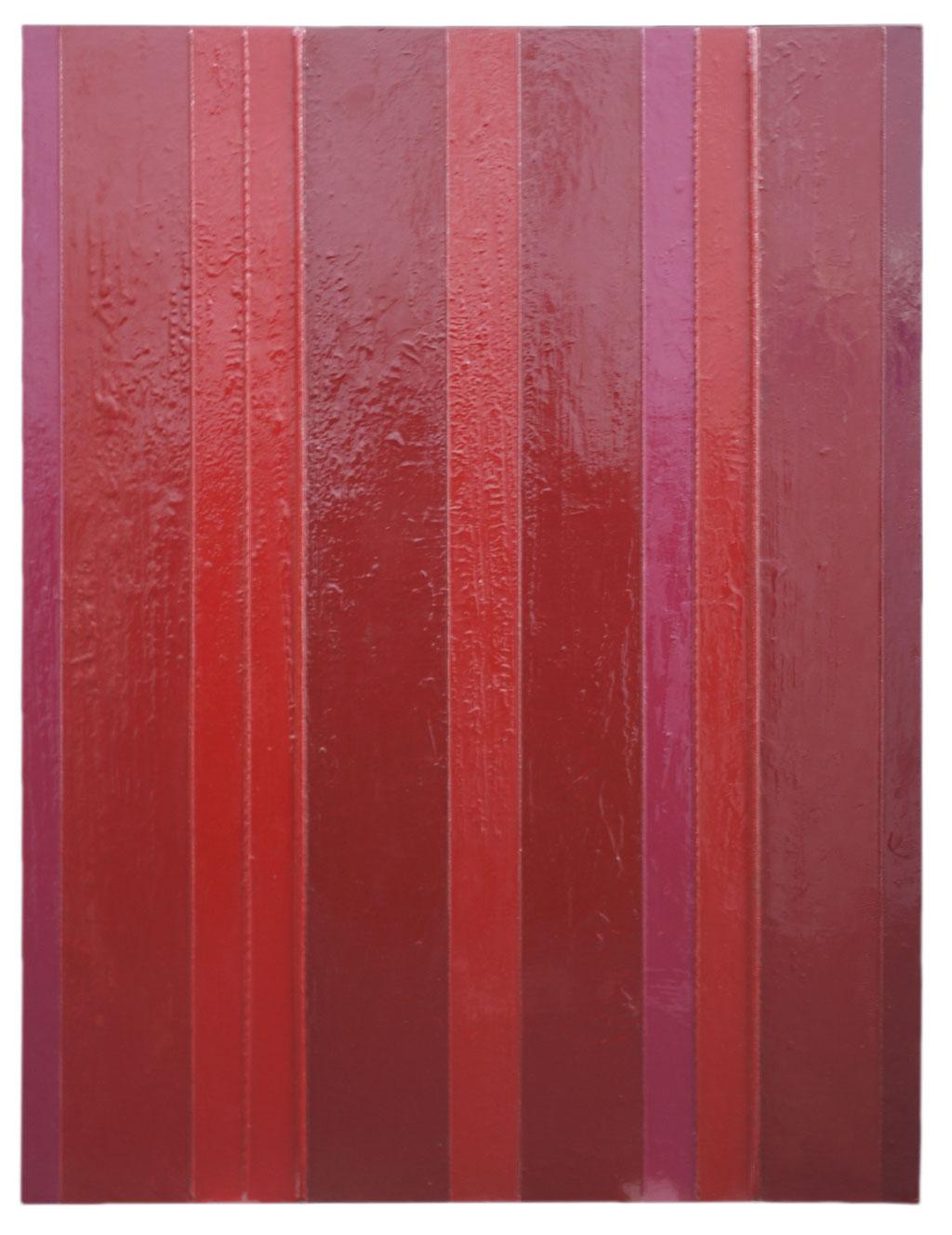 <b>Felix III, Mai 1997</b><br> 1997, Spachtel, Lack, Baumwollkordel auf Hartfaserplatte, <br>120 x 90 cm