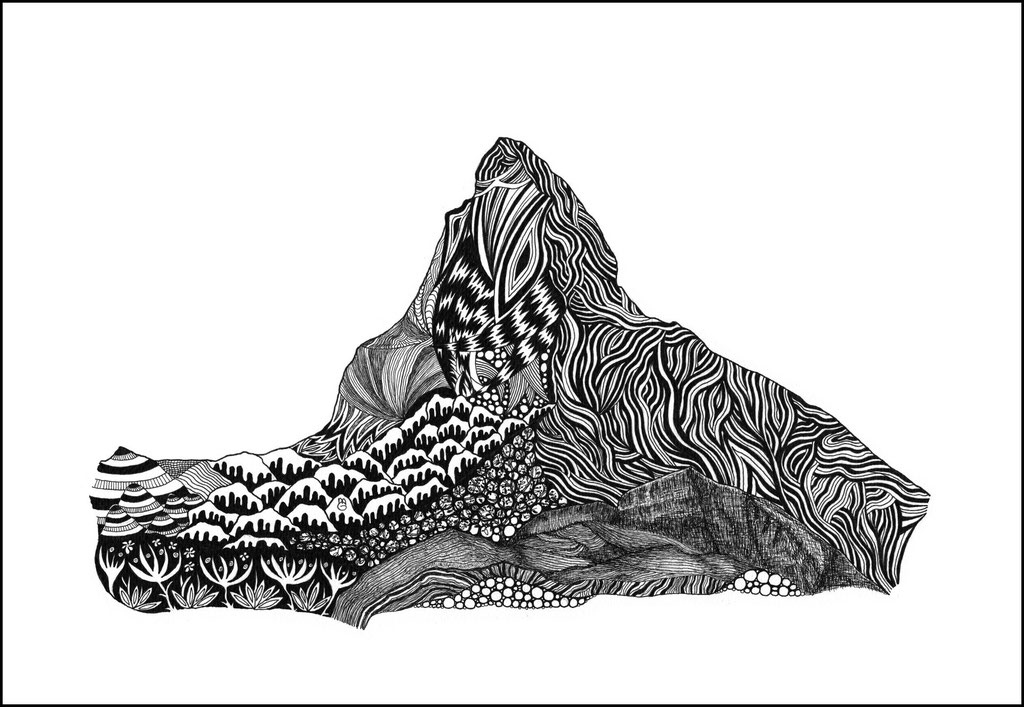 """Matterhorn / Walliser Alpen Andenken an Hermann Geiger """"Der Adler vom Matterhorn""""/Gletscherflieger"""