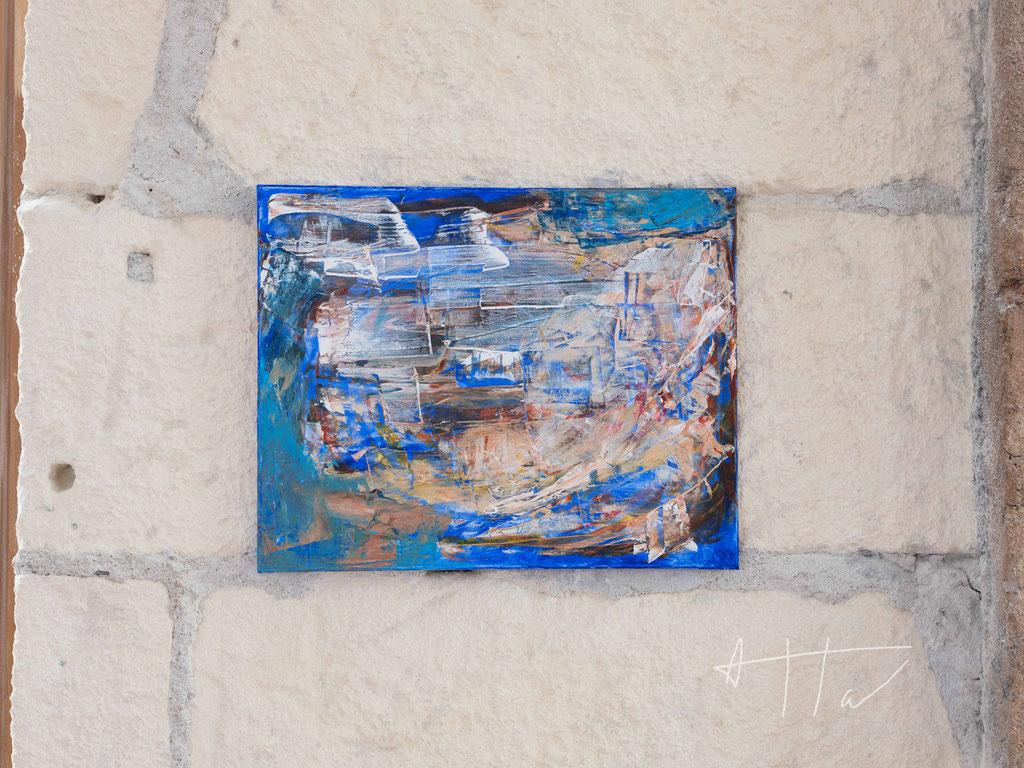 Untitled #10, acrylic paint on canvas, 40 cm x 50 cm, unique.