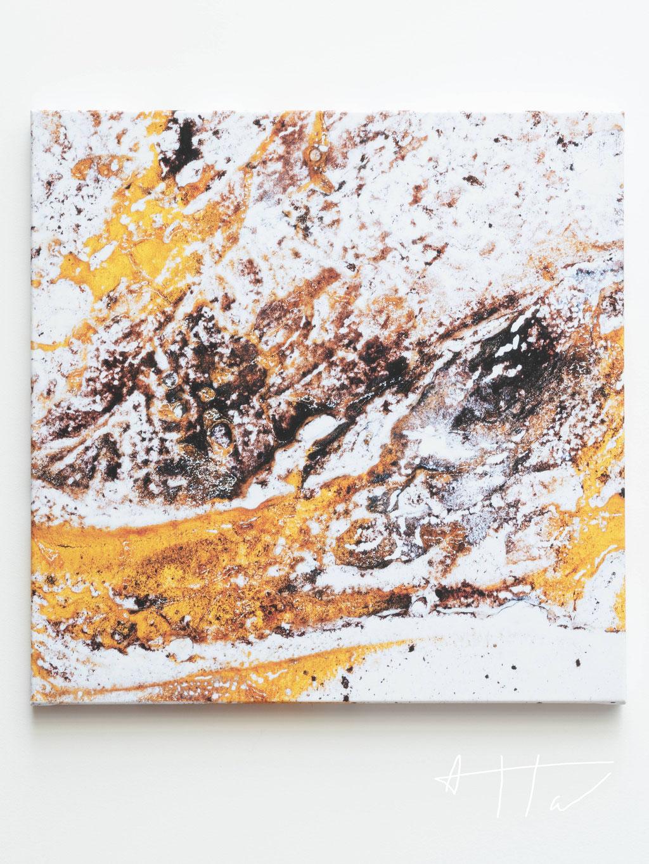 Neige sur sable, canvas print, 70 cm x 70 cm x 4 cm, series of 5 prints + 2 AP.