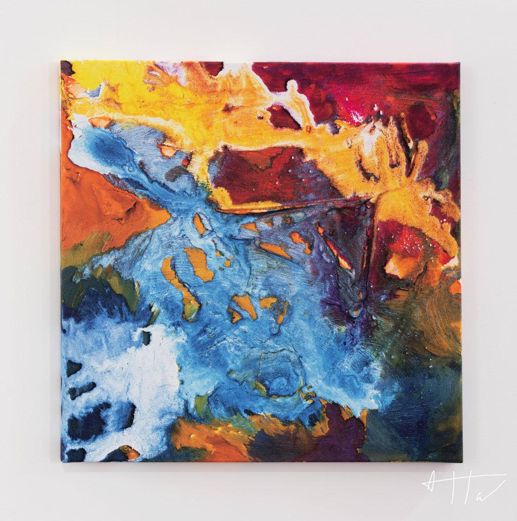 Peinture texturée, canvas print, 70 cm x 70 cm x 4 cm, series of 5 prints + 2 AP.