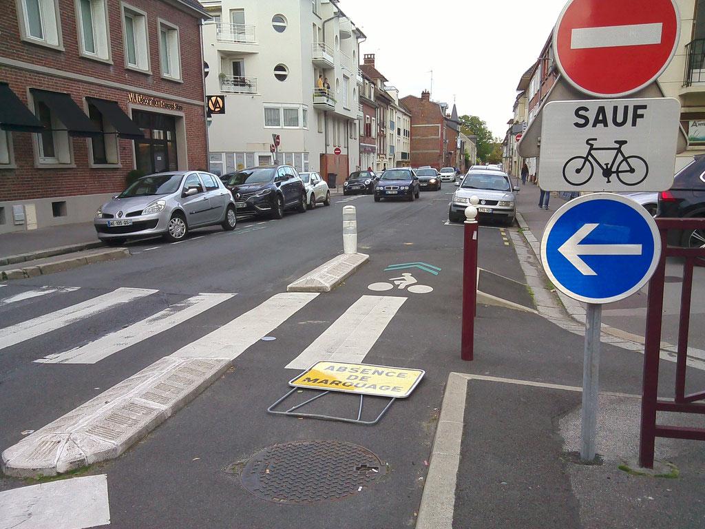 Rue de la Madeleine : Obstacle sciemment positionné par les services techniques
