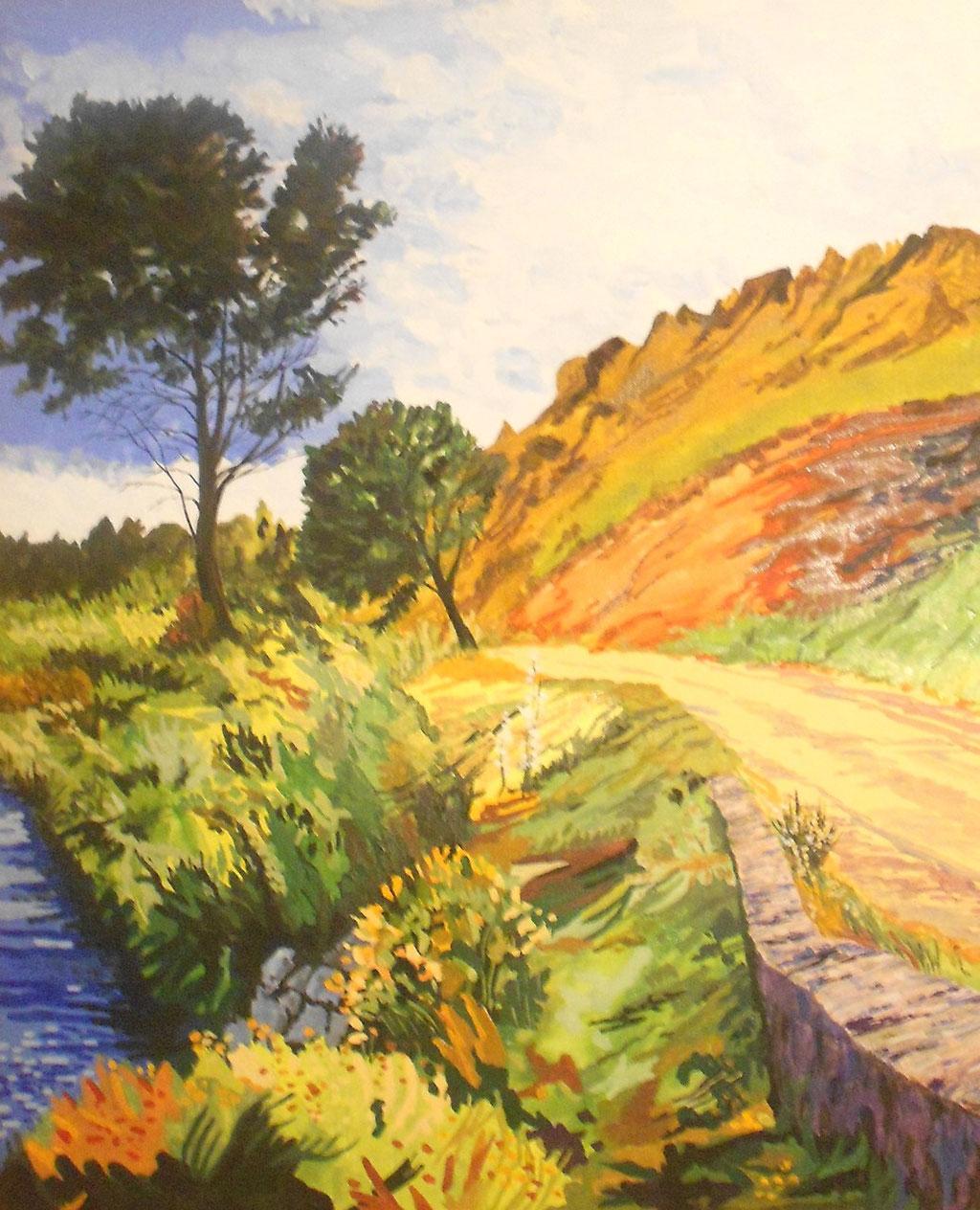 La route des Bouches-du-Rhône - gouache - 65 x 54