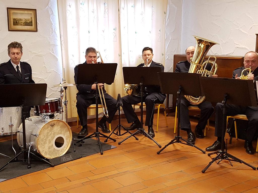 Musiker des Landespolizeiorchesters