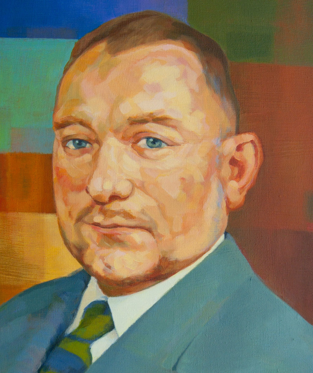 Portrait of Michel Robin. (commission). Acrylic on canvas.