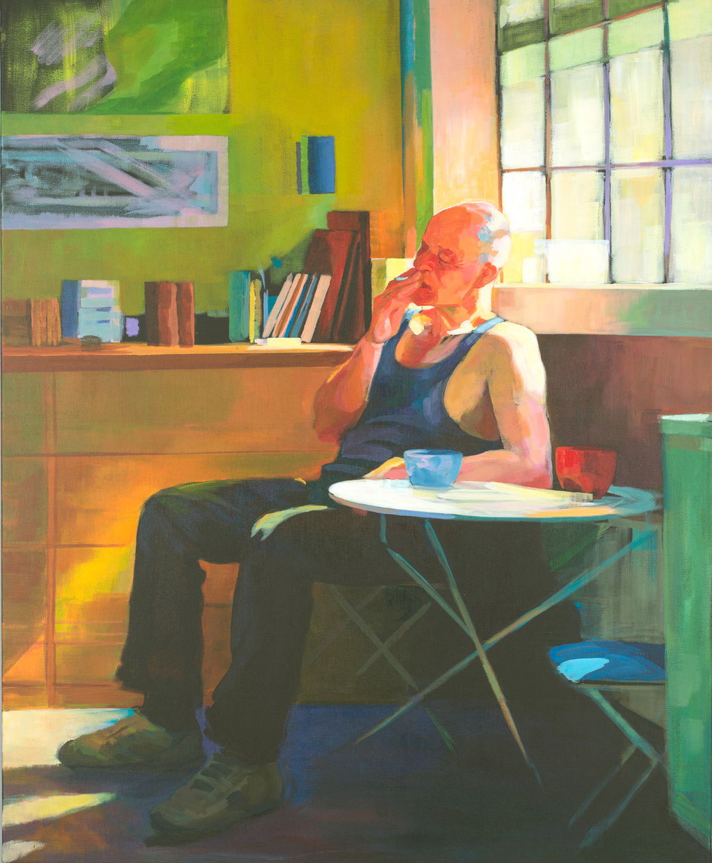 The painter's pause. Acrylic on canvas. 100 x 81 cm