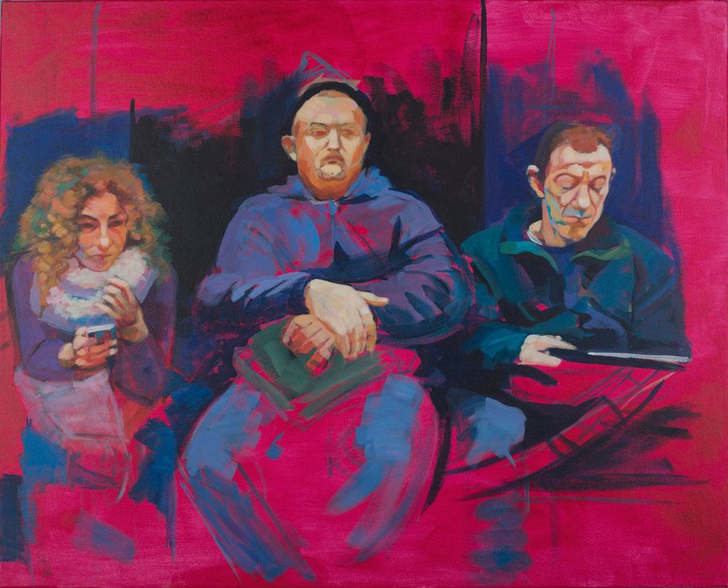 Subway I. Acrylic on canvas. 100 x 81 cm