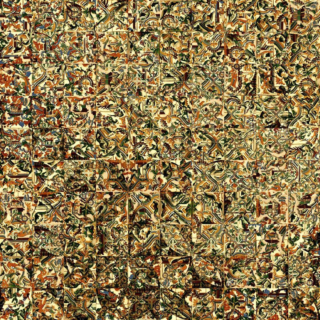 Barcelona Nr. 6 | 1.20 x 1.20 m | Fotocollage digital hinter Acrylglas