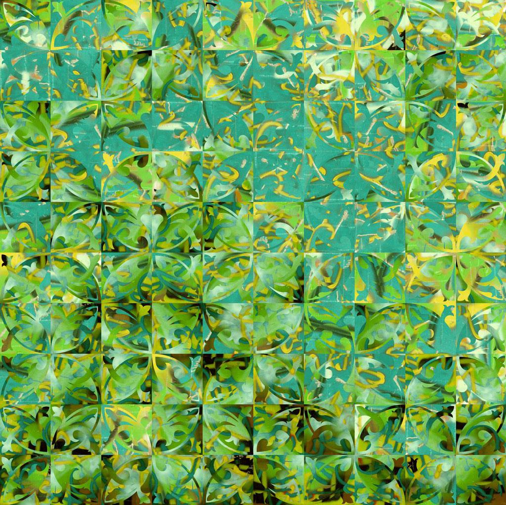 Barcelona Nr. 3 | 1.20 x 1.20 m | Fotocollage digital hinter Acrylglas | Privat Collection - Kassel DE