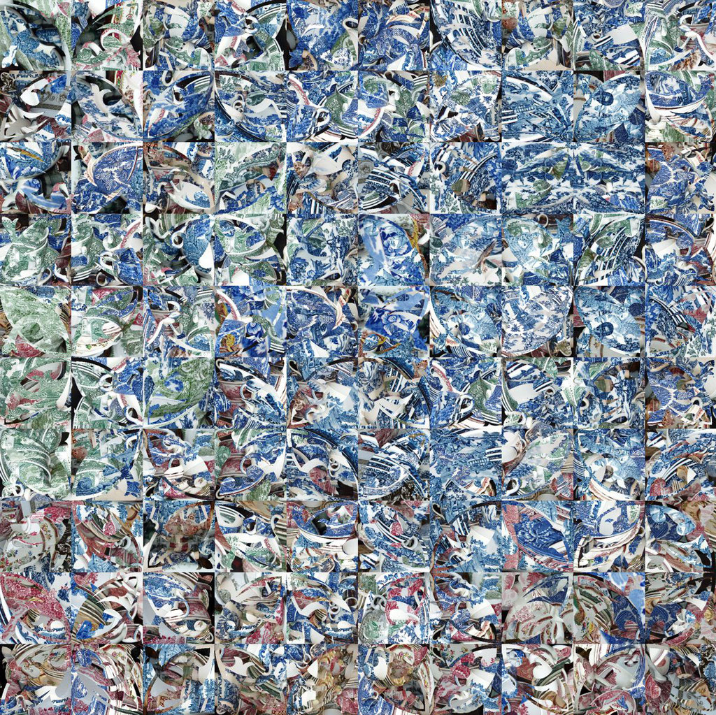Barcelona Nr. 8 | 1.20 x 1.20 m | Fotocollage digital hinter Acrylglas