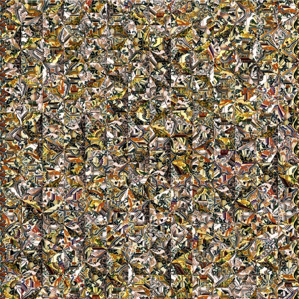Barcelona Nr. 5 | 1.20 x 1.20 m | Fotocollage digital hinter Acrylglas