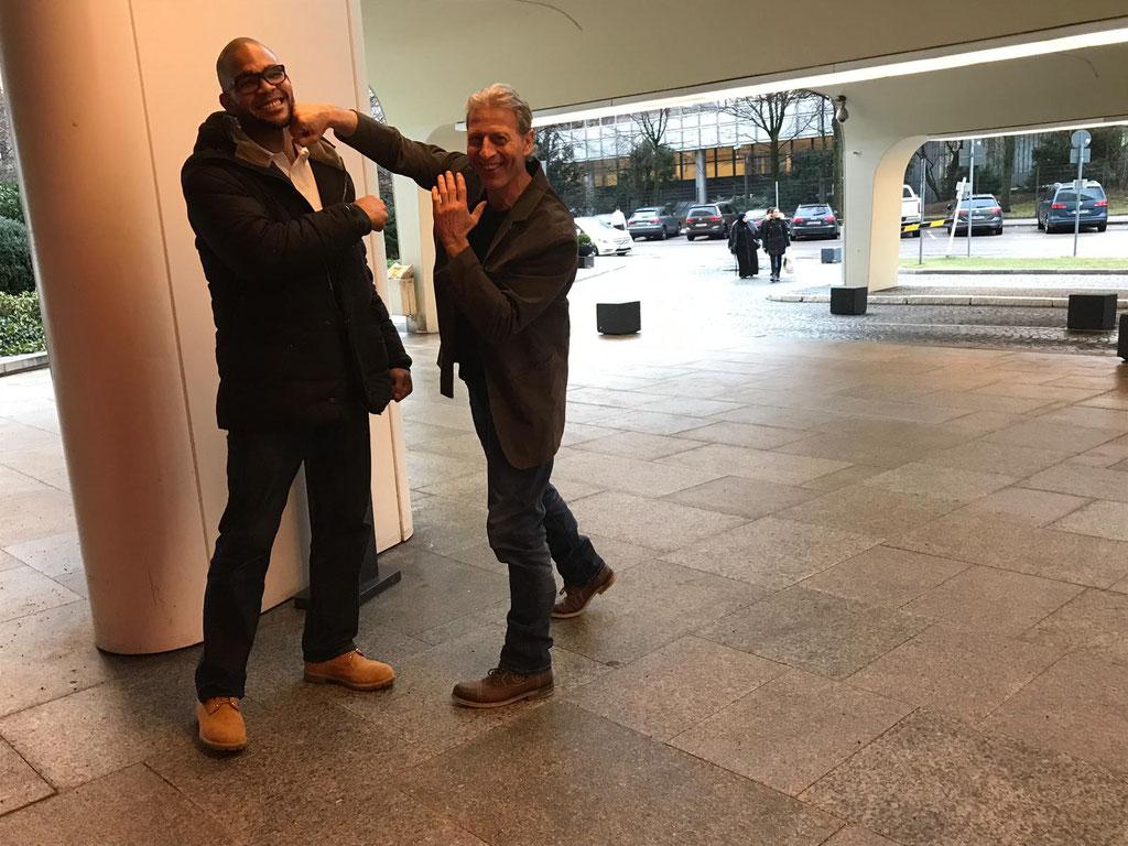 IBF Weltmeister Yoan Pablo Hernandez mit Dani Ryter - Box-Ring Zürichsee Horgen