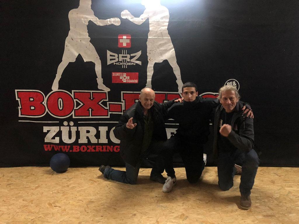 BRZ Horgen mit Fritz, Dave, Dani