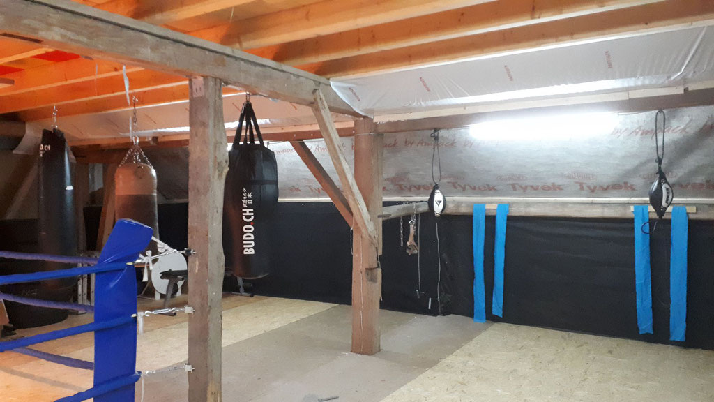 BRZ Horgen rüstet Gym - Rocky Bude, Old School Style