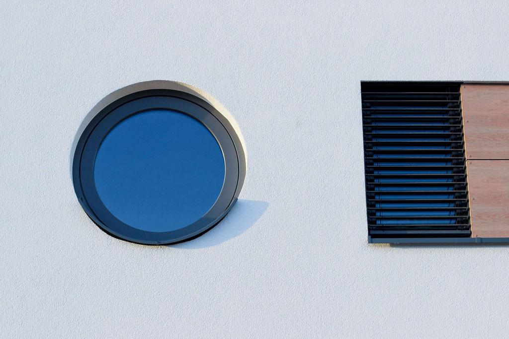 rundes Kunststofffenster
