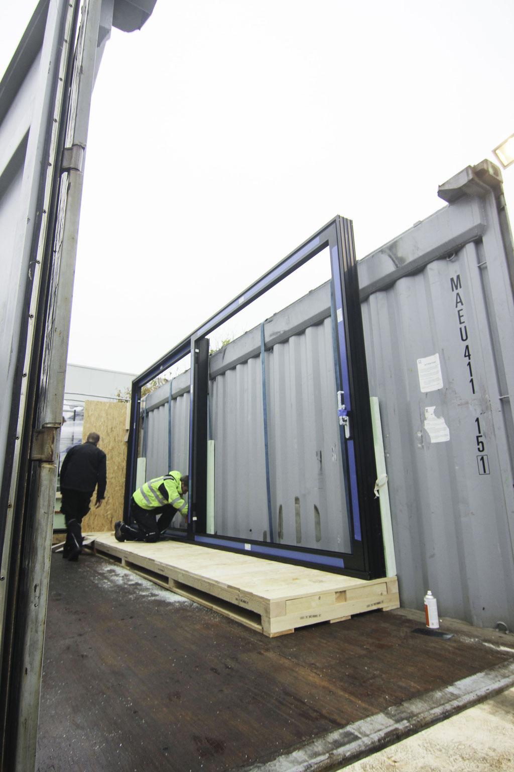 Fenster Container Export von Deutschland nach Südafrika