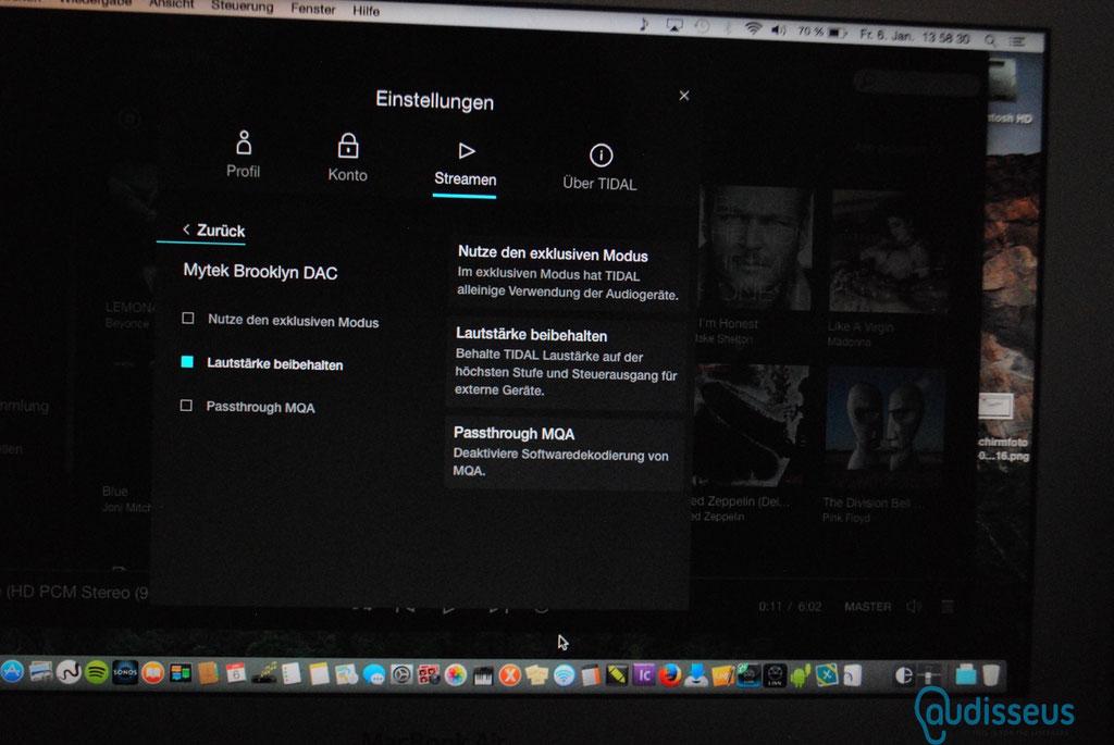 TIDAL integriert MQA / Meldung auf www.audisseus.de / Foto: Fritz I. Schwertfeger / audisseus.de