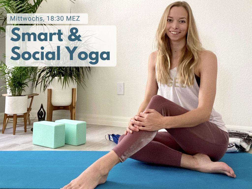 Online Yoga für Anfänger mit Nadine Brandl Jeden Mittwoch