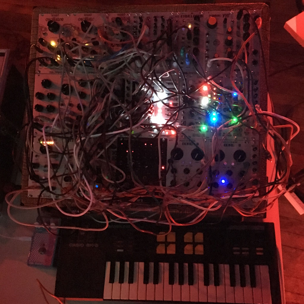 VoltDivers synth performance, The Lovecraft Bar, Portland 2016