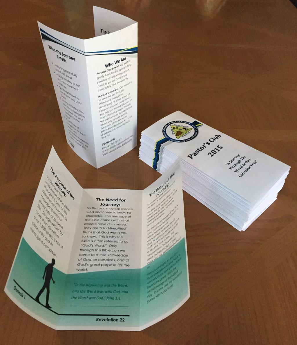 Pastor's Club 2015 Brochure