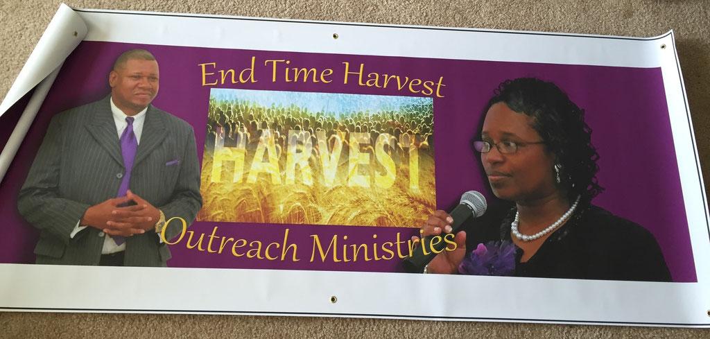 End Time Harvest Large (2.5' X 6') Banner