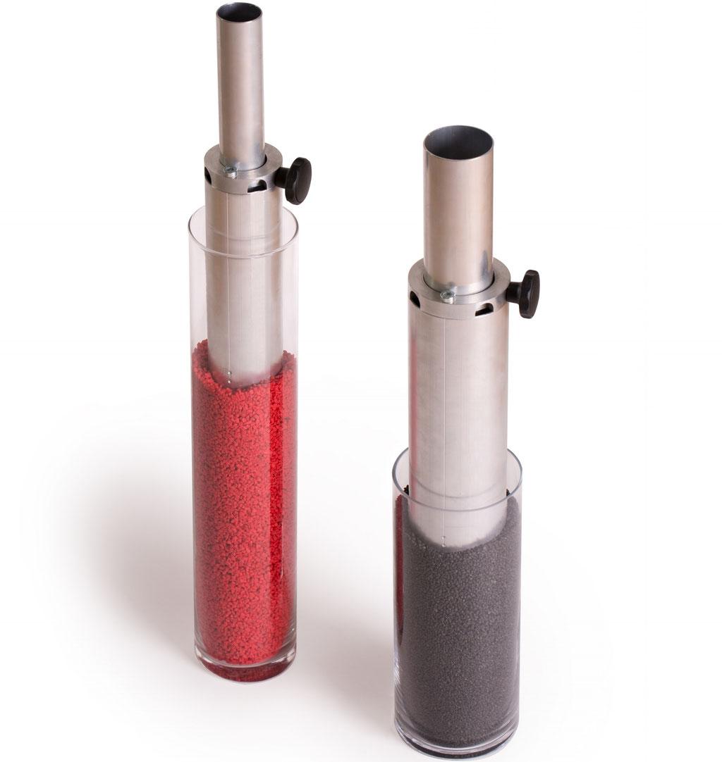 Aluminium/EdSaugrohre für Granulatbehälter, Rollcontainer, Sackaufgaben, Oktabins und Big Bags