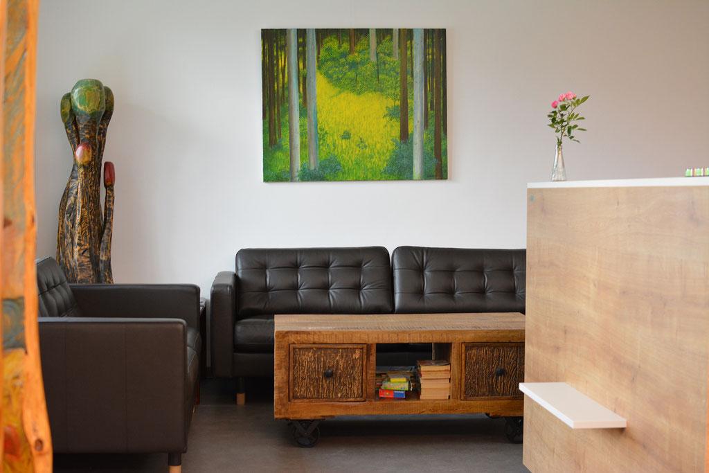Holzskulptur/Wandbild: Hubert Tschütscher