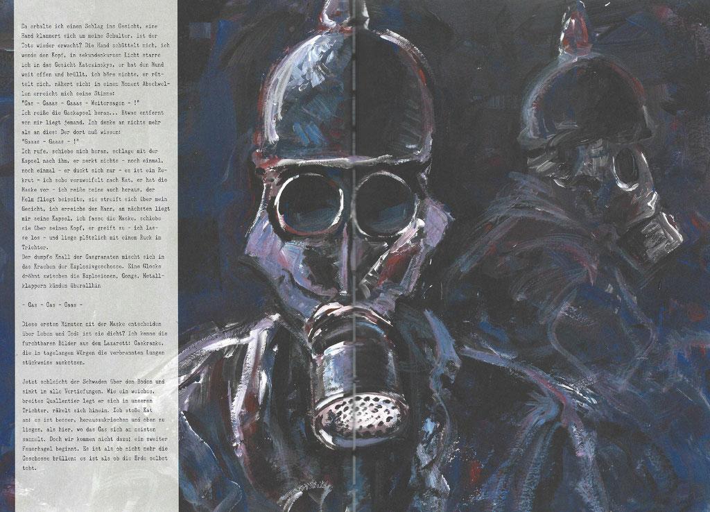 Soldaten in ABC-Masken ©Splitter Verlag